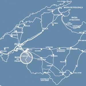 mapa replanteo vial llucmajor estudio topografico