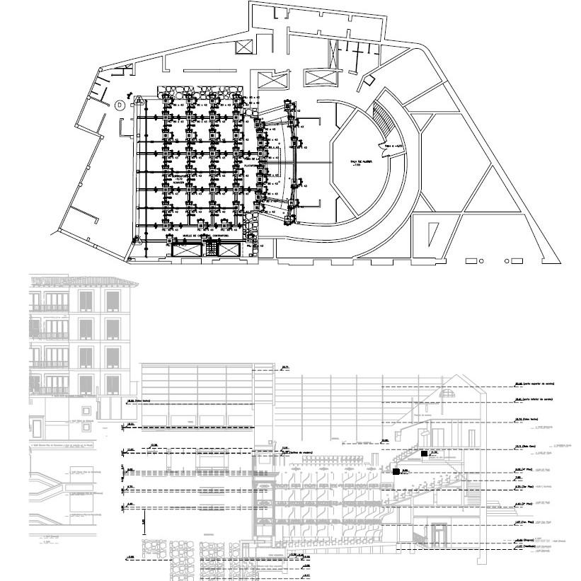 replanteo de la remodelación del teatre principal de palma plano